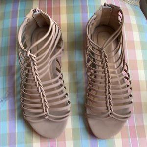 Tan dress sandals. Perfect condition. Comfy.